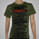 Alexisonfire Stencil Army Green T-Shirt