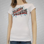 Alexisonfire Travel White Girls T-Shirt
