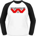 Alien Weyland Yutani Blk White Baseball Adult Ls
