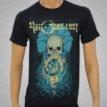 A Life Once Lost Mushroom Skull 2 Black T-Shirt