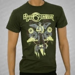 A Life Once Lost Pestilence Army Green T-Shirt