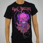 A Life Once Lost Pink Skull Black T-Shirt
