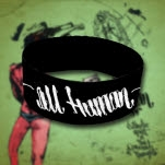 official All Human Logo Black Wristband