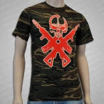 All That Remains Skull And Crossed Guns Multicam T-Shirt