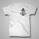 A Loss For Words Anchor White T-Shirt