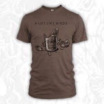A Lot Like Birds Broken Glass Heather Brown T-Shirt