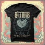 ALTARS Fire Heart Black T-Shirt