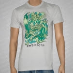 official Ambitions Faces Silver Gray T-Shirt