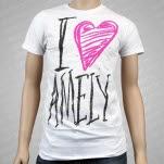Amely I Heart Amely White T-Shirt