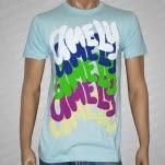 Amely Rainbow Pile Light Blue T-Shirt