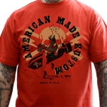 American Made Kustom Bombs Away Red T-Shirt