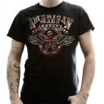 American Made Kustom Death Comes Rippin Black T-Shirt