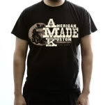American Made Kustom Fully Blown Black T-Shirt