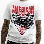 American Made Kustom Straight To Hell White T-Shirt
