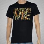 American Me Camo Logo Black T-Shirt