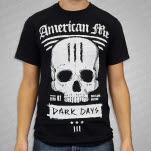 American Me White Skull Black T-Shirt