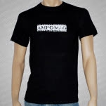 AMP Magazine Logo Stars Black T-Shirt