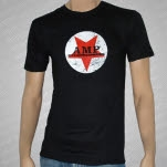 AMP Magazine Red Star Logo Black T-Shirt