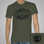 Angel City Outcasts Guns Army Green T-Shirt