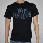 Another Hero Dies Blue Logo Black T-Shirt