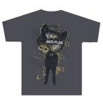 Anti Flag Pig Head Gray T-Shirt