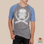 Arkaik Clothing Mammoth Skull GreyRoyal T-Shirt