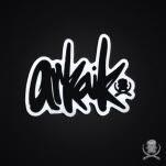 official Arkaik Clothing Script Die Cut Sticker
