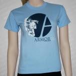 official Armor For Sleep Robot On Light Blue T-Shirt