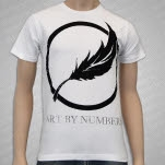 Art By Numbers Feather White T-Shirt