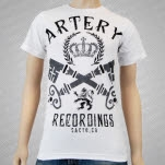 Artery Recordings King White T-Shirt