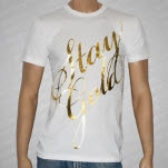 Artery Recordings Stay Gold Cursive GOLD FOIL on White T-Shirt