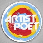 Artist vs Poet Circle Logo Sticker