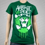 Artist vs Poet Growl Green T-Shirt