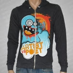 Artist vs Poet Ghost Dark Heather Gray Hoodie Zip