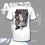 Asking Alexandria Appetite For Sin White T-Shirt