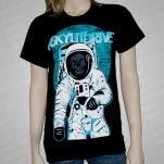 A Skylit Drive Astronaut Black T-Shirt