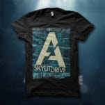 A Skylit Drive Fingerprint Black T-Shirt