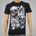 official A Skylit Drive Skynet Black T-Shirt