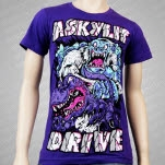 A Skylit Drive Yetti vs Crock Purple T-Shirt