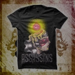 Assassins Album Art Black T-Shirt