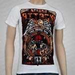 Attack Attack Freedom White T-Shirt
