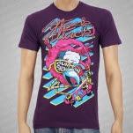 Attack Attack Mondo Flamingo Purple T-Shirt
