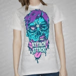Attack Attack Zombie Nerd T-Shirt