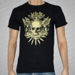 At The Throne of Judgment Coat Of Arms Black T-Shirt