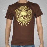At The Throne of Judgment Coat Of Arms Brown T-Shirt