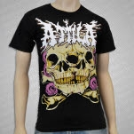 Attila Double Skull Black T-Shirt