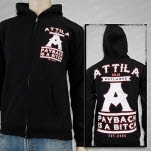 Attila Payback with sleeves Black Hoodie Zip