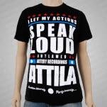 Attila Speak Loud Black T-Shirt