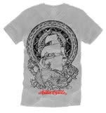 Austin Carlile Ship Tattoo Silver Gray T-Shirt