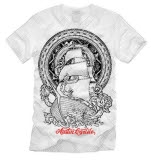 Austin Carlile Ship Tattoo White T-Shirt